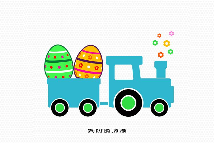 Easter Train Svg example image 1