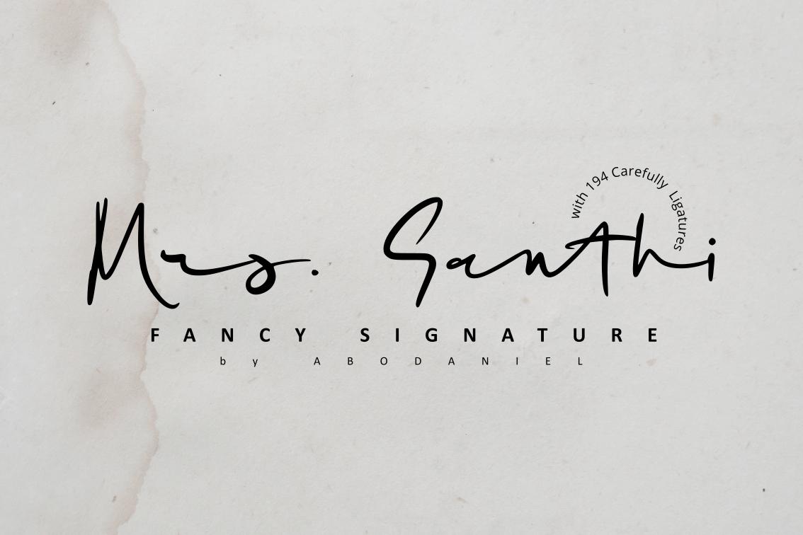 Mrs. Santhi -Fancy Signature- example image 1