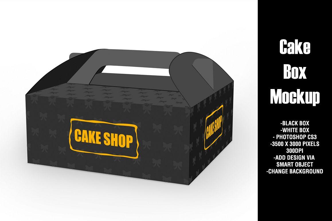 Cake Box Mockup example image