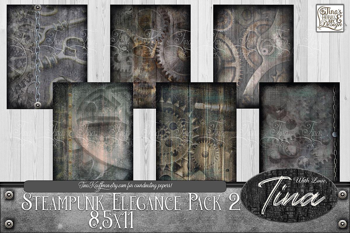 Steampunk Elegance Collage Keys Gears Locks 092918SE1 example image 1