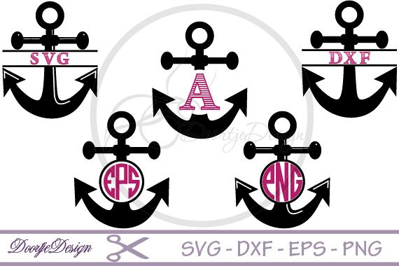 Viewing Product Anchor Monogram SVG Files