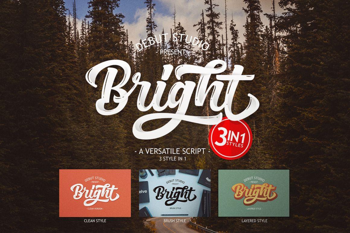 Bright Script (Fonts Trio)  example image 1