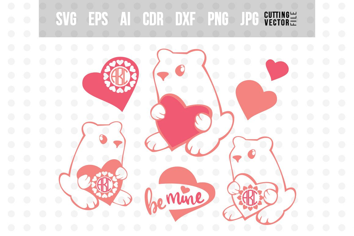 Valentine S Day Monogram Svg Eps Ai Cdr Dxf Png Jpg