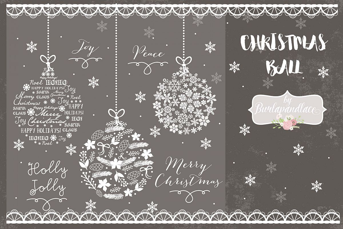Christmas Ball cliparts example image 1