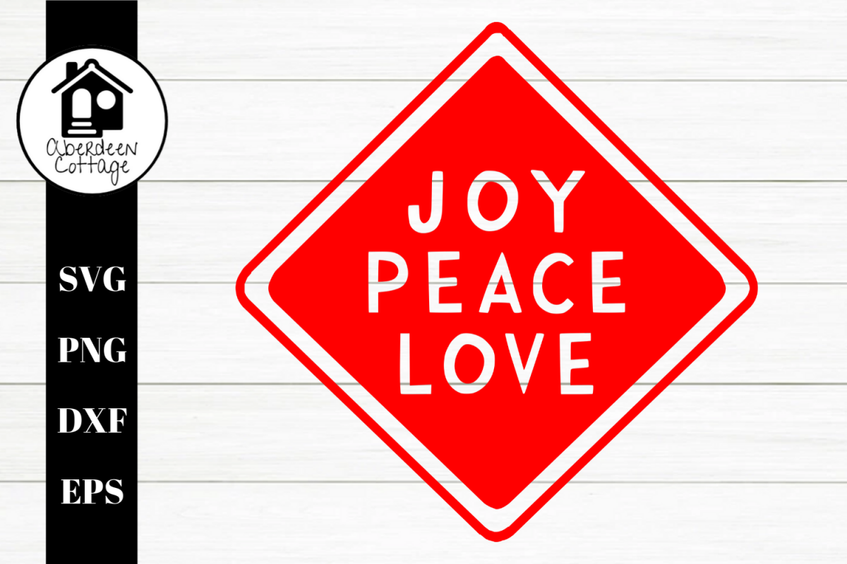 Joy Peace Love - Holiday SVG  PNG example image 1