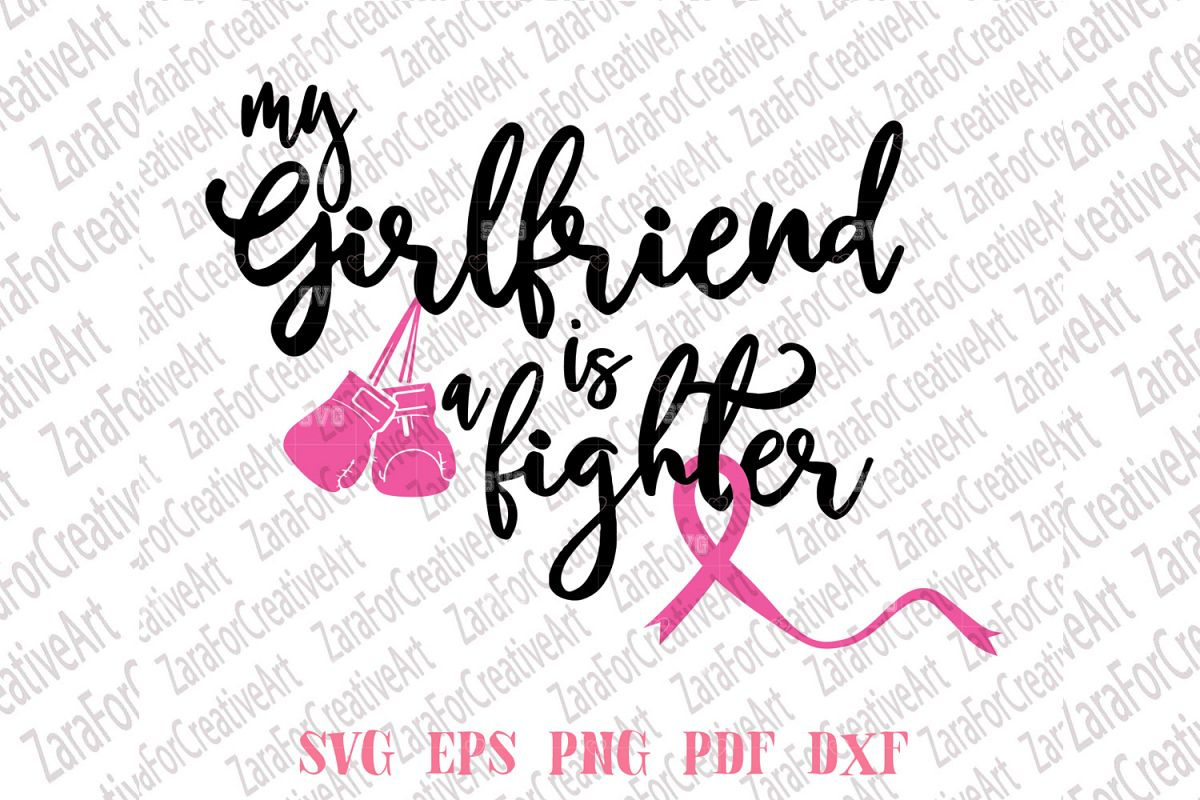 My Girlfriend Is A Fighter SVG example image 1