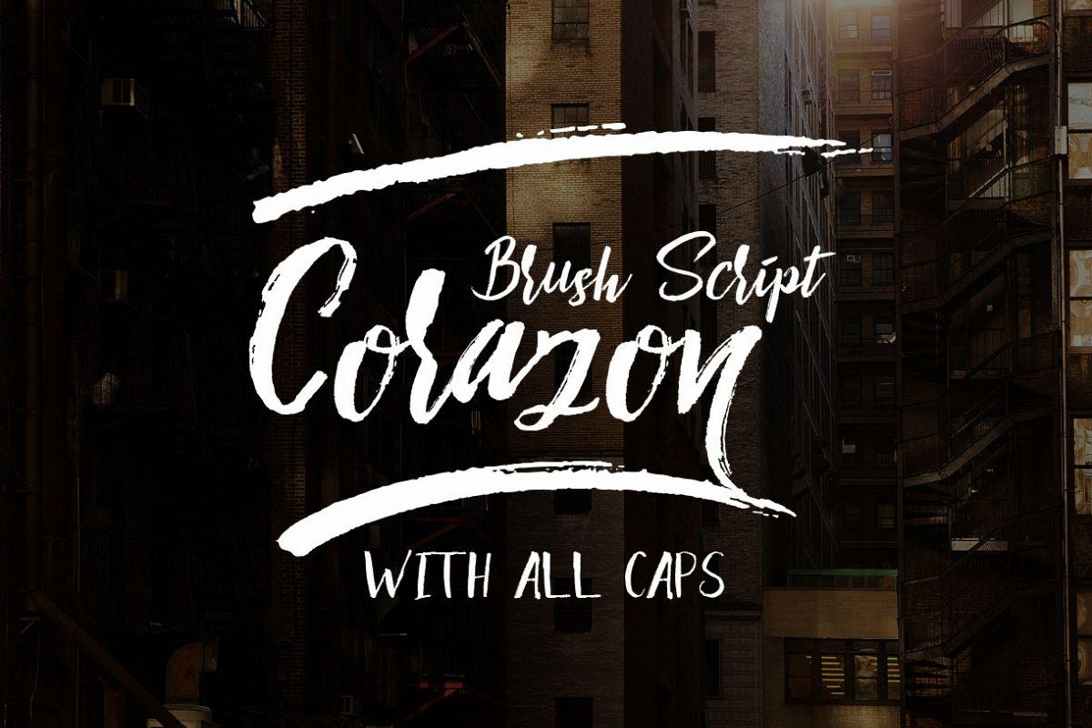 Corazon Brush Script example image 1