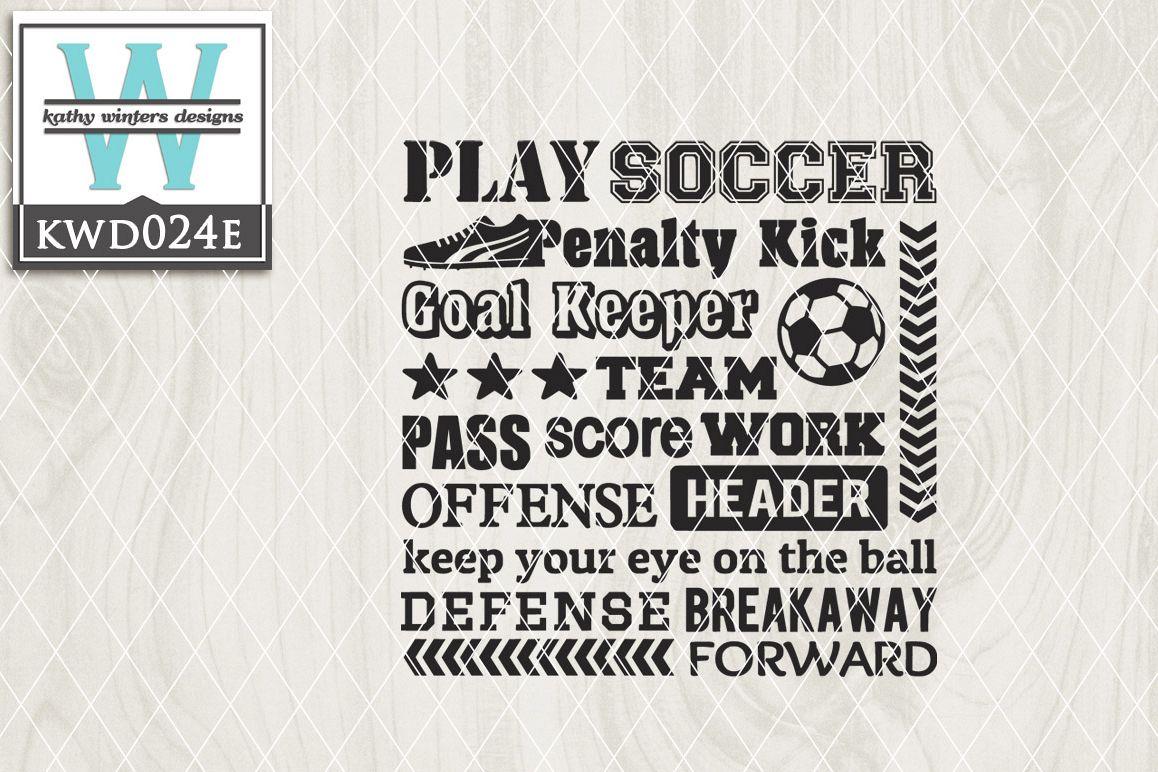 Soccer Svg Soccer Subway Art 143688 Cut Files Design Bundles