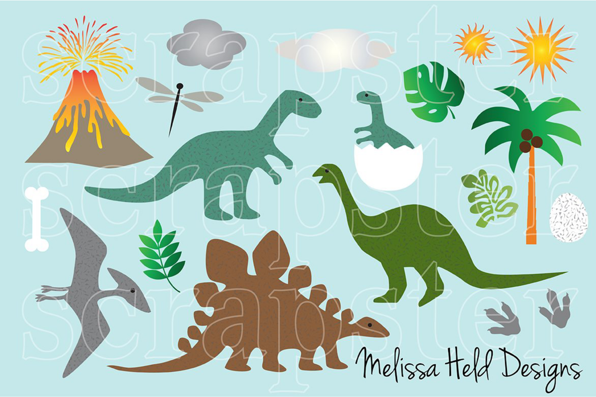 Dinosaur Clipart example image 1