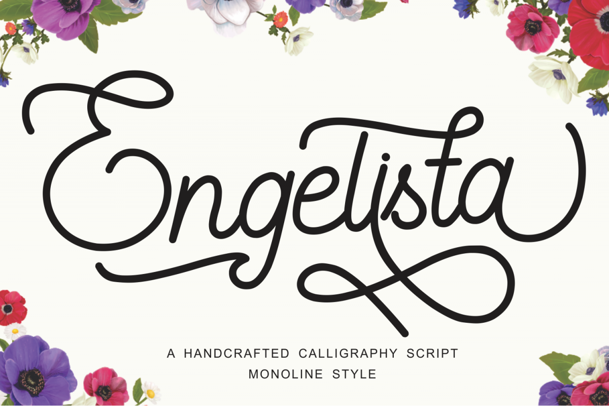 Engelista - A Handcrafted Monoline Font example image 1