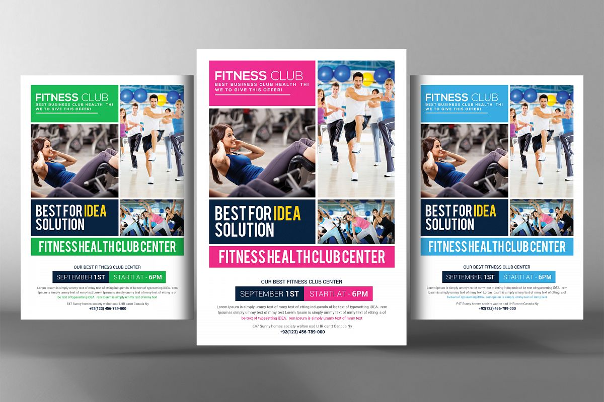Fitness Health Club Flyer  example image 1