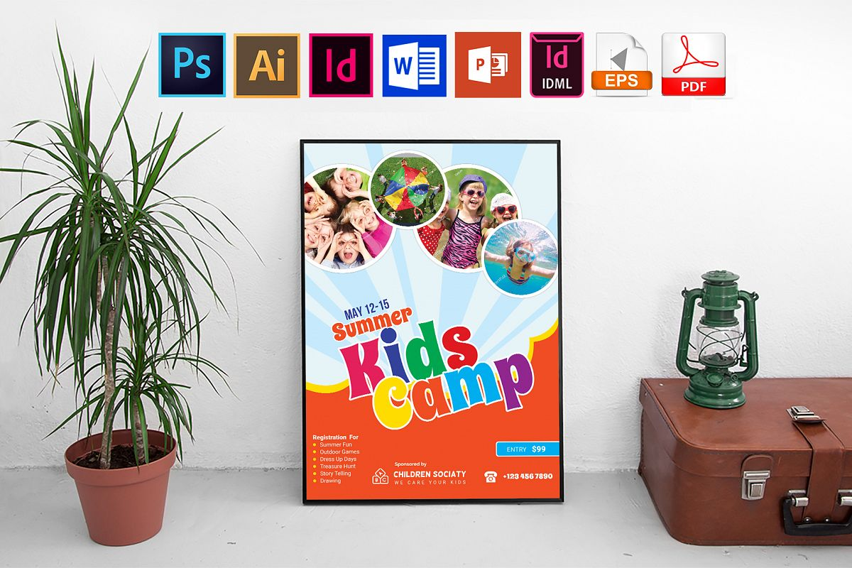 Poster | Kids Summer Camp Vol-02 example image 1
