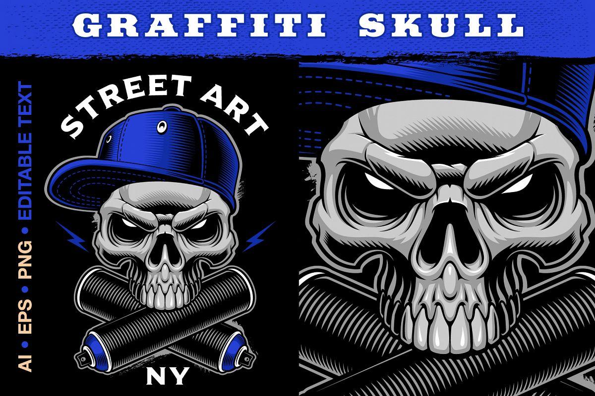 Graffiti Skull example image 1