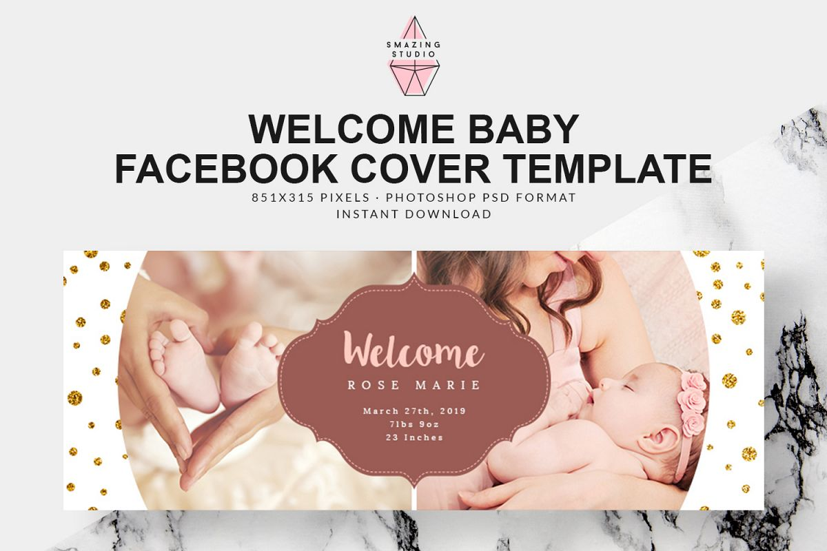 Welcome Baby Facebook Cover - FBC007 example image 1