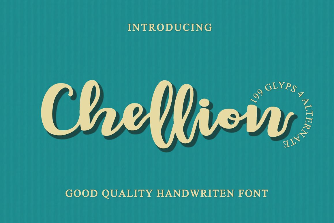 Chellion - Script font example image 1
