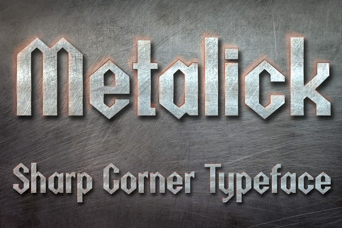 Metalick Bold Font example image 1