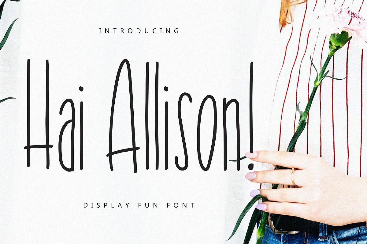 Hai Allison Fun Display example image 1