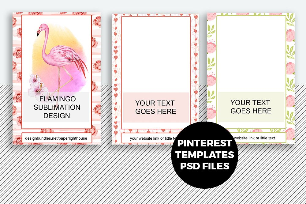 Pinterest Templates PSD files with Smart object example image 1