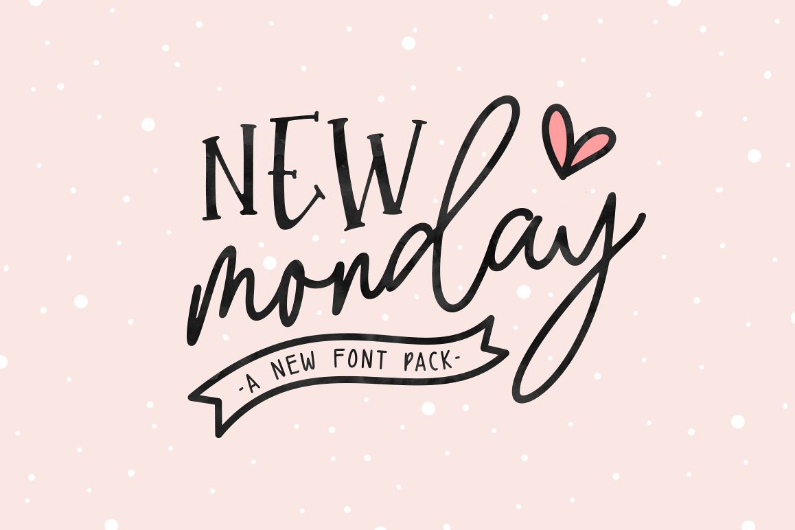 New Monday | Font Pack example image 1