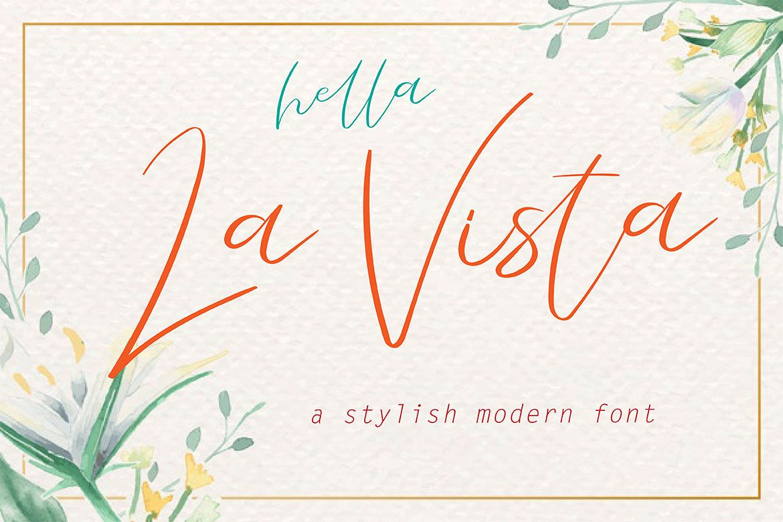La Vista // A Stylish Modern Font example image 1