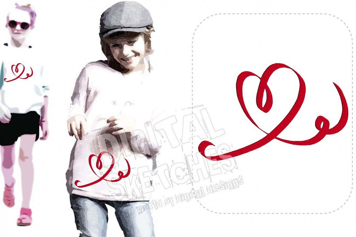 Heart Machine Embroidery Design 3 Sizes example image 1