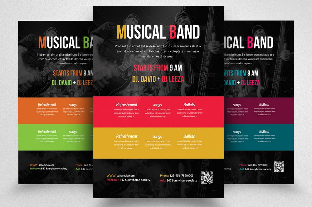 Musical Band Concert Flyer Template