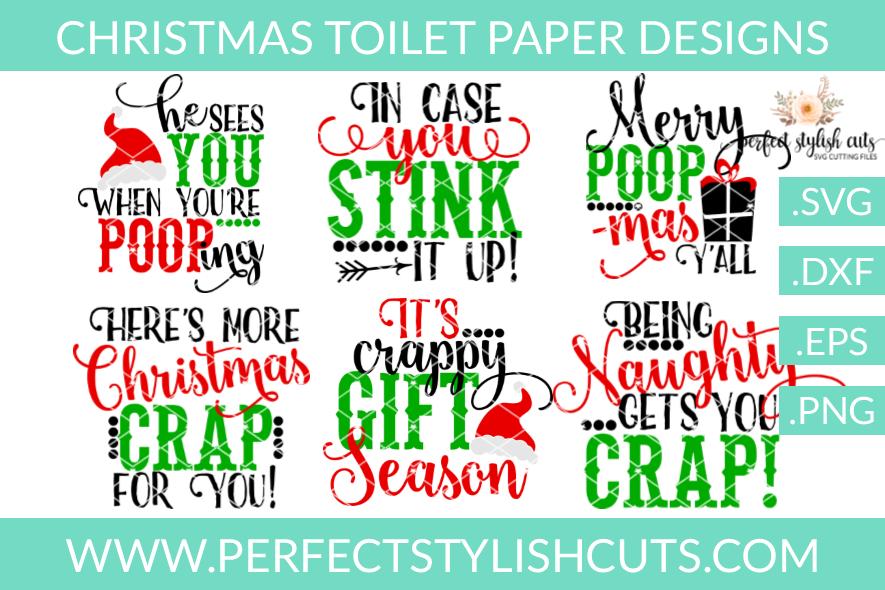 christmas svg christmas toilet paper svg bundle