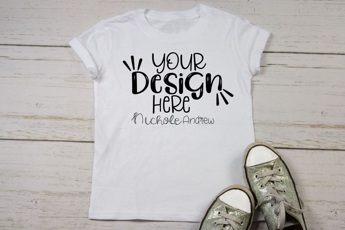 Simple Girls T-Shirt Mock Up example image 1