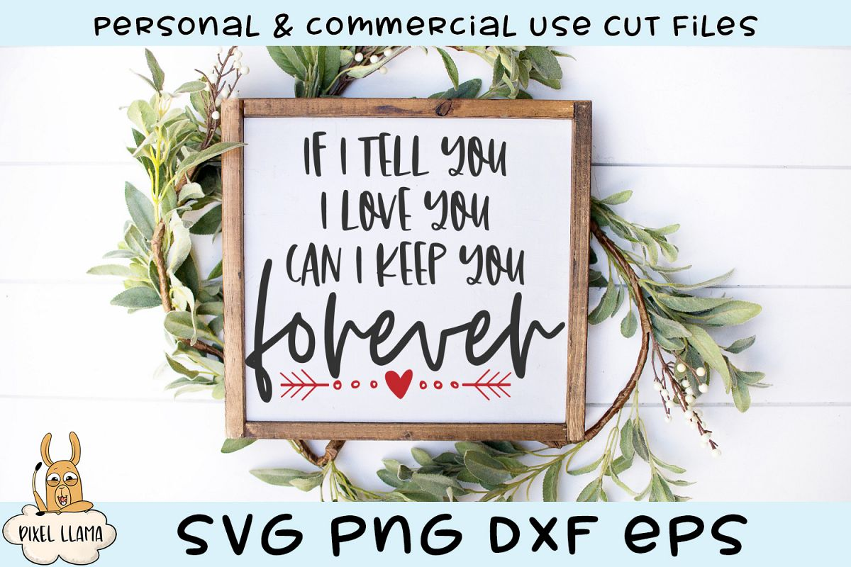 I Tell You I Love You Can I Keep You Forever Valentine SVG example image 1