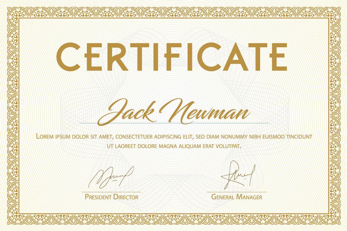Elegant Ornamental Certificate Vector