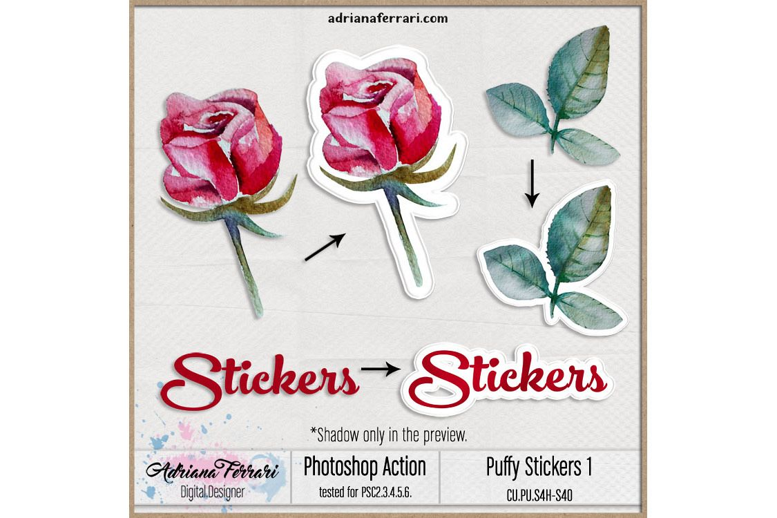 Sticker Maker Photoshop Action 1 example image 1