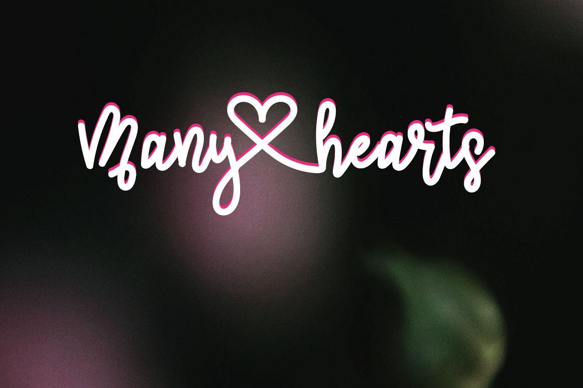 Many heart | Elegant Script Font example image 1