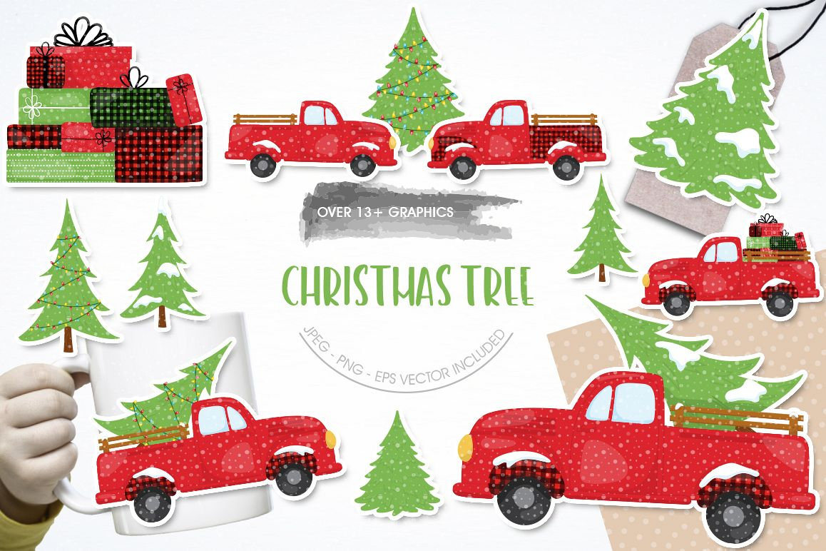 Christmas Tree graphic and illustrations example image 1