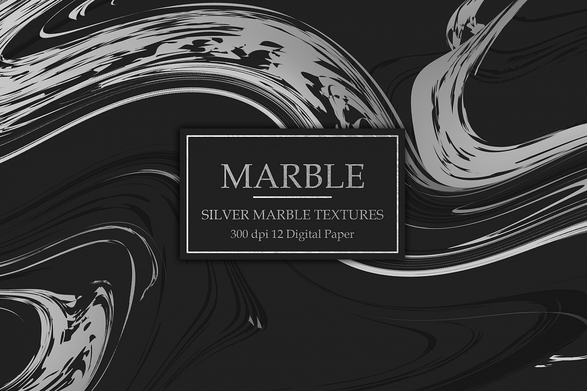 Silver Marble Textures example image 1