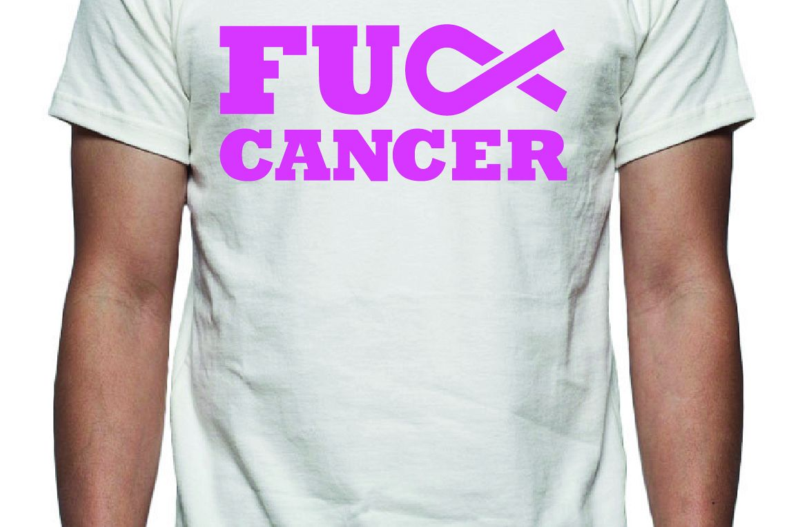 F Cancer Tee Shirt Design Svg Dxf Eps Vector Files For Use With