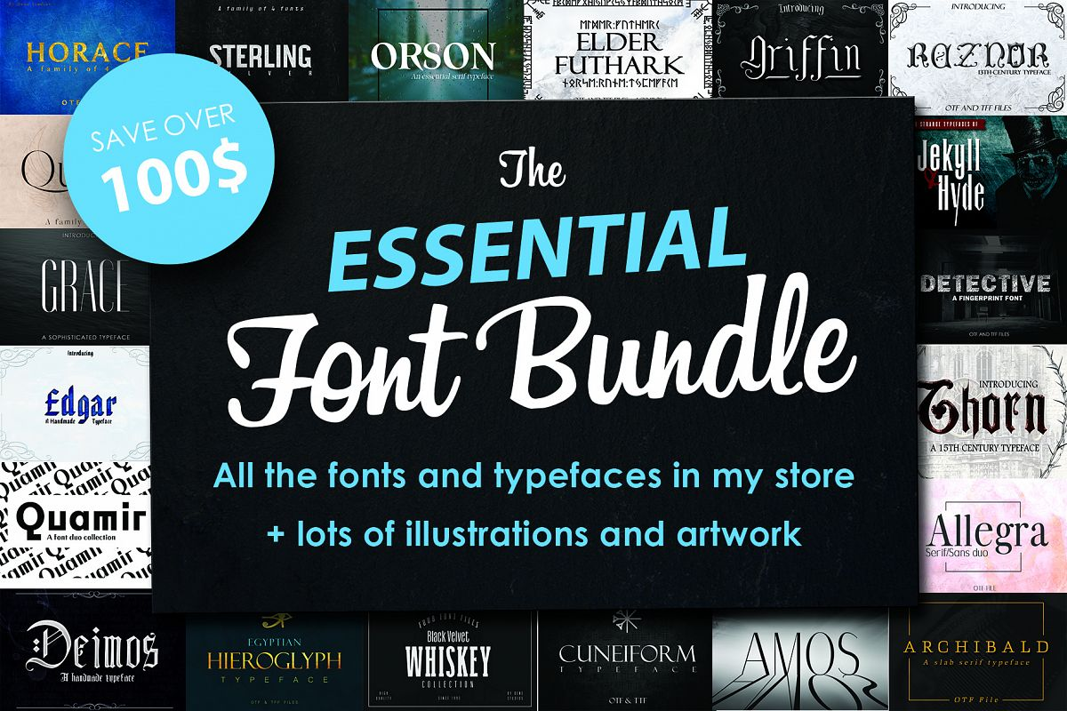 FONT BUNDLE, All my fonts for sale example image 1