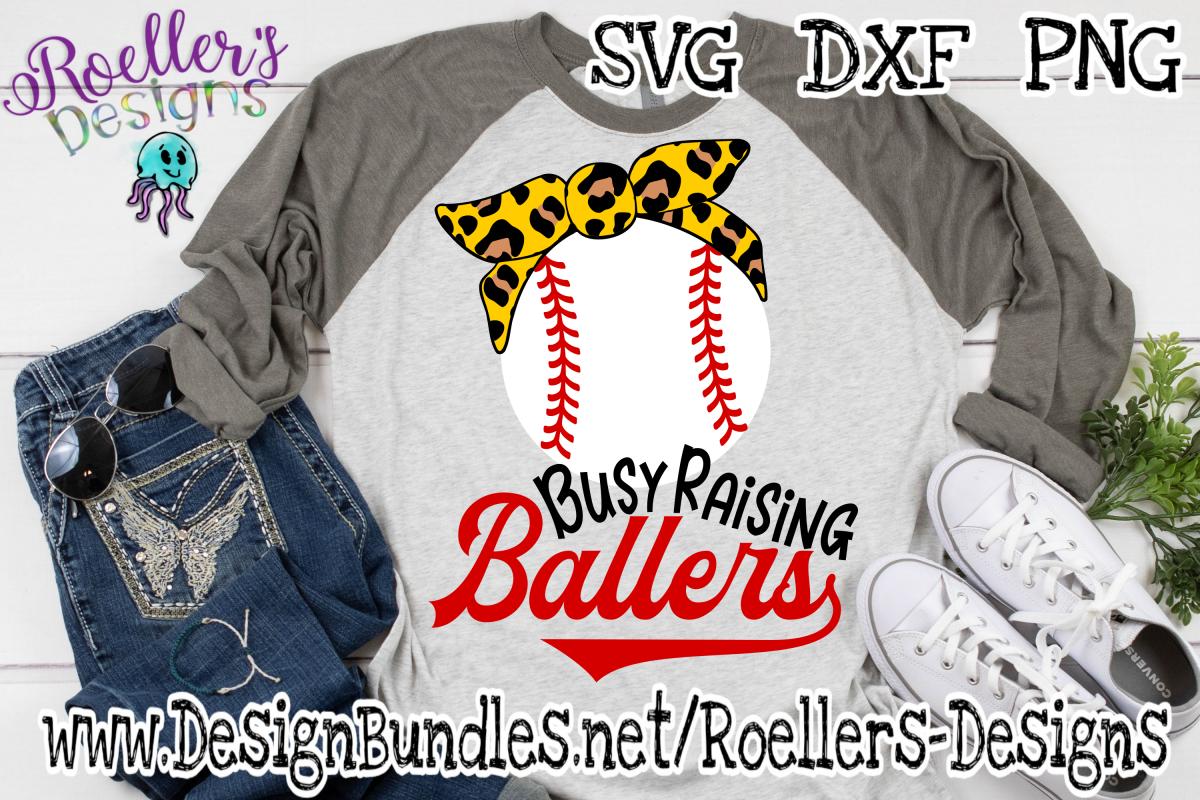 Busy Raising Ballers with Cheetah Print bandana SVG example image 1