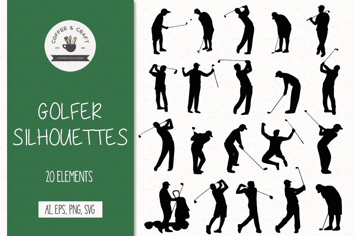 Golfer silhouettes example image 1