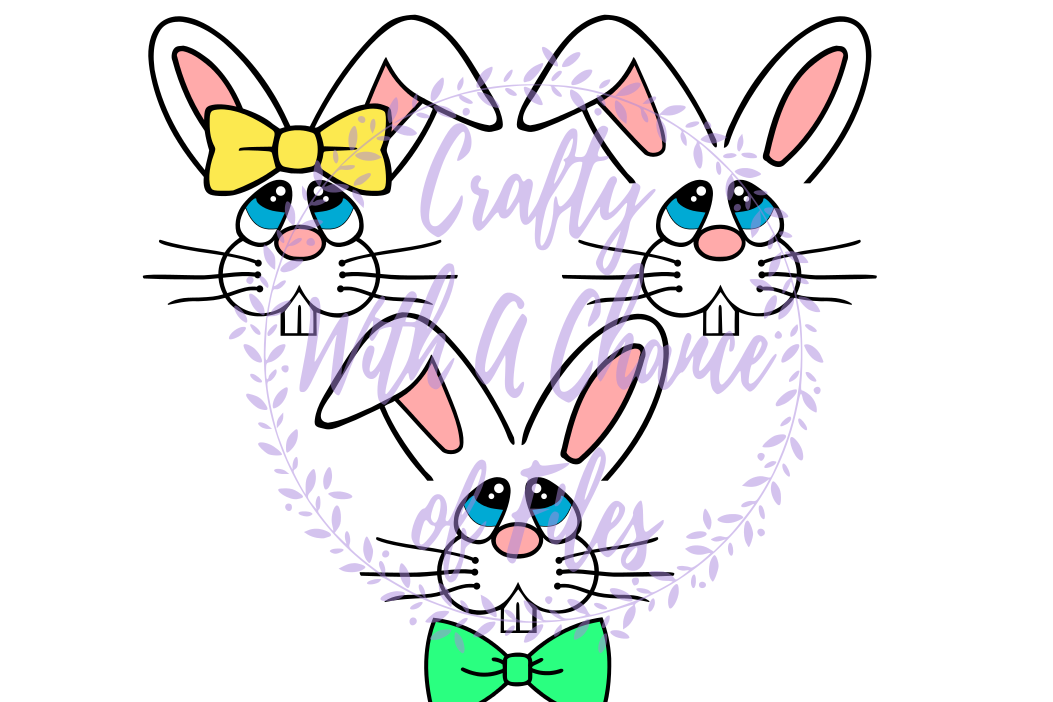 Easter Basket SVG - Bunny Face Designs example image 1