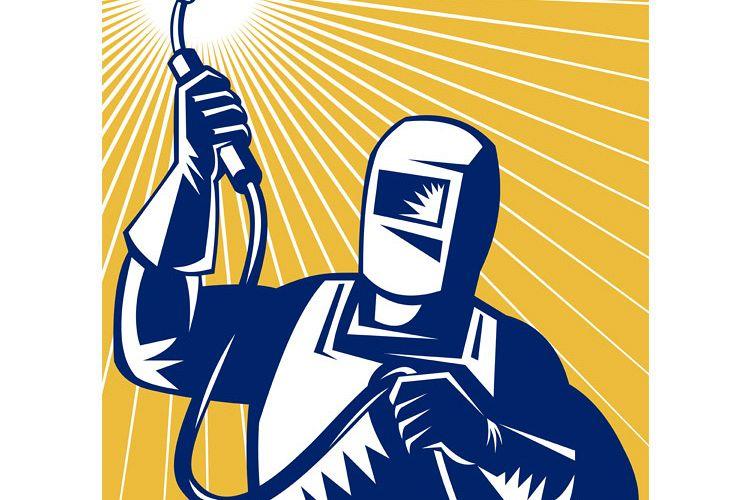 welder welding holding up equipment example image 1