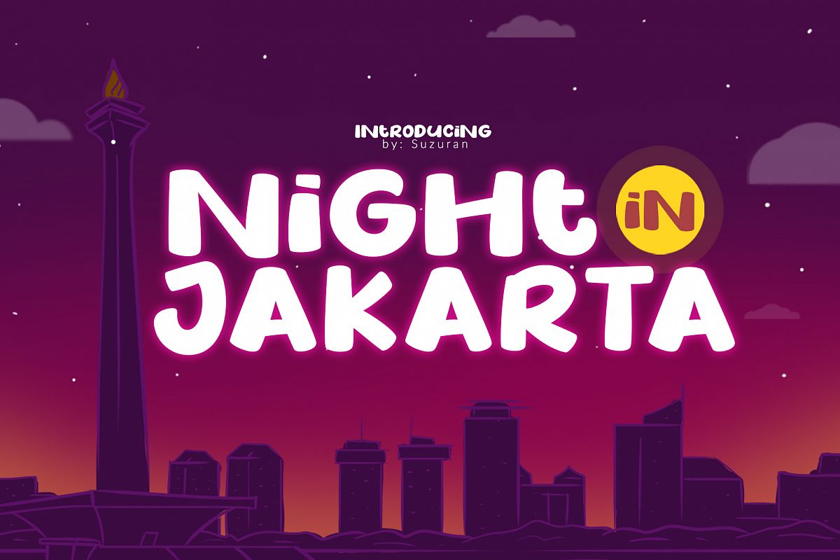 Night in Jakarta example image 1