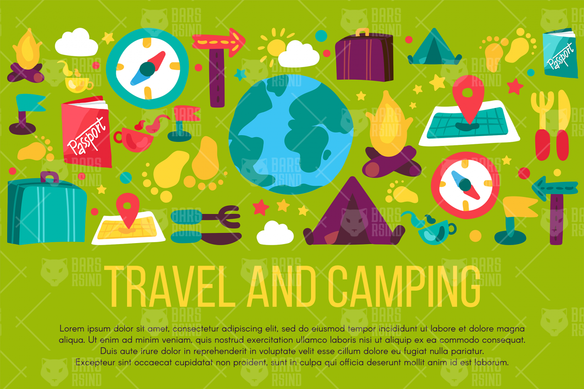 Travel And Camping Banner example image 1