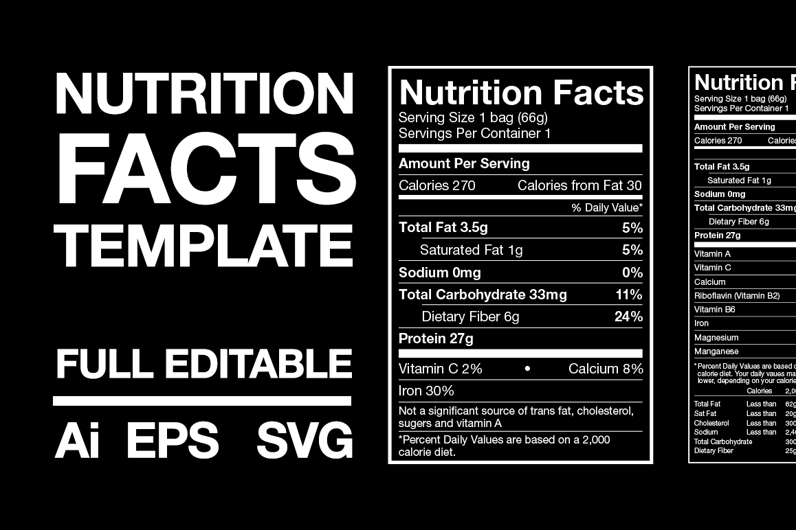 Nutrition Facts Template example image 1