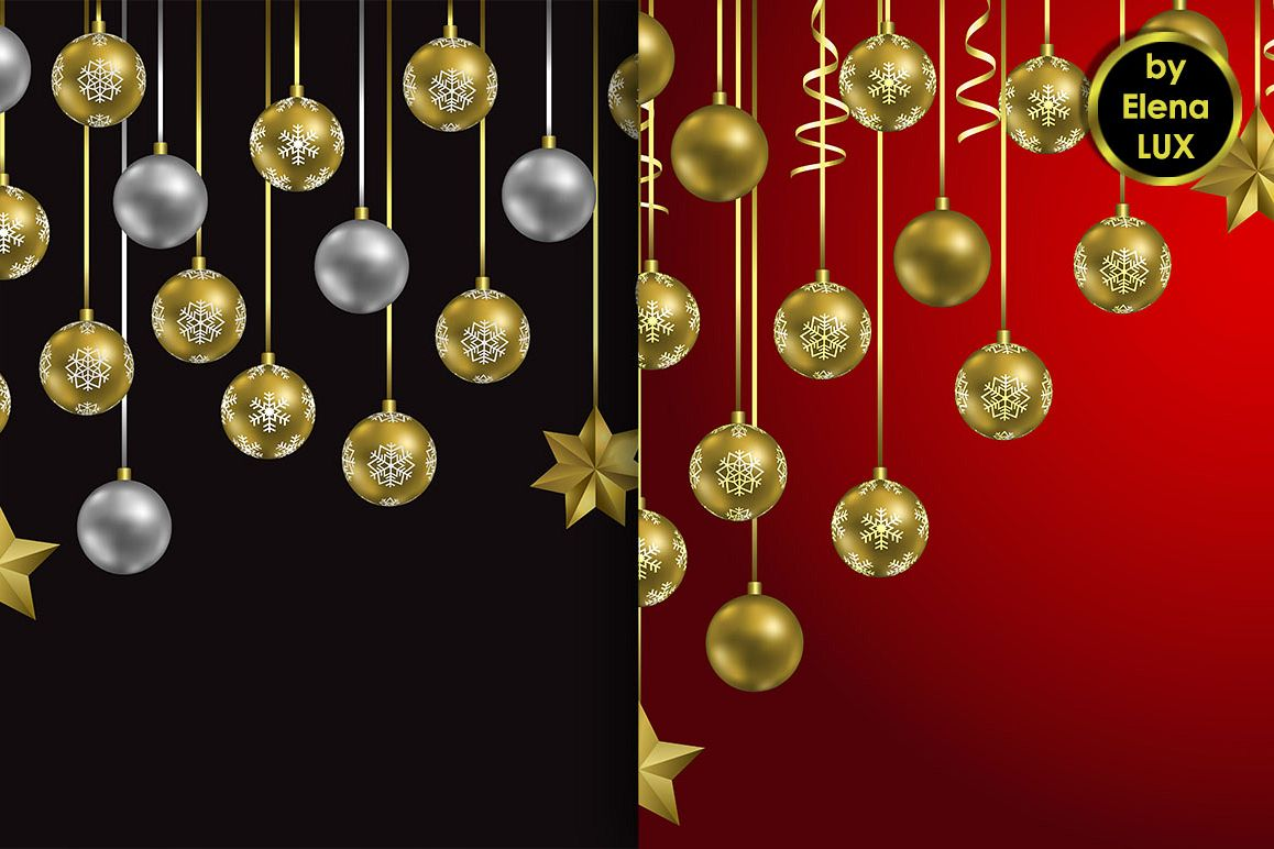 Christmas and New Year Seamless Set example image 1