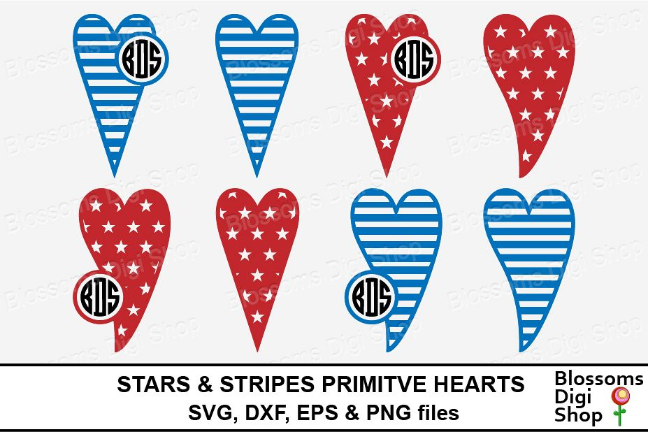 stunning Primative Hearts Part - 8: Stars u0026 Stripes Primitive Hearts example image 1