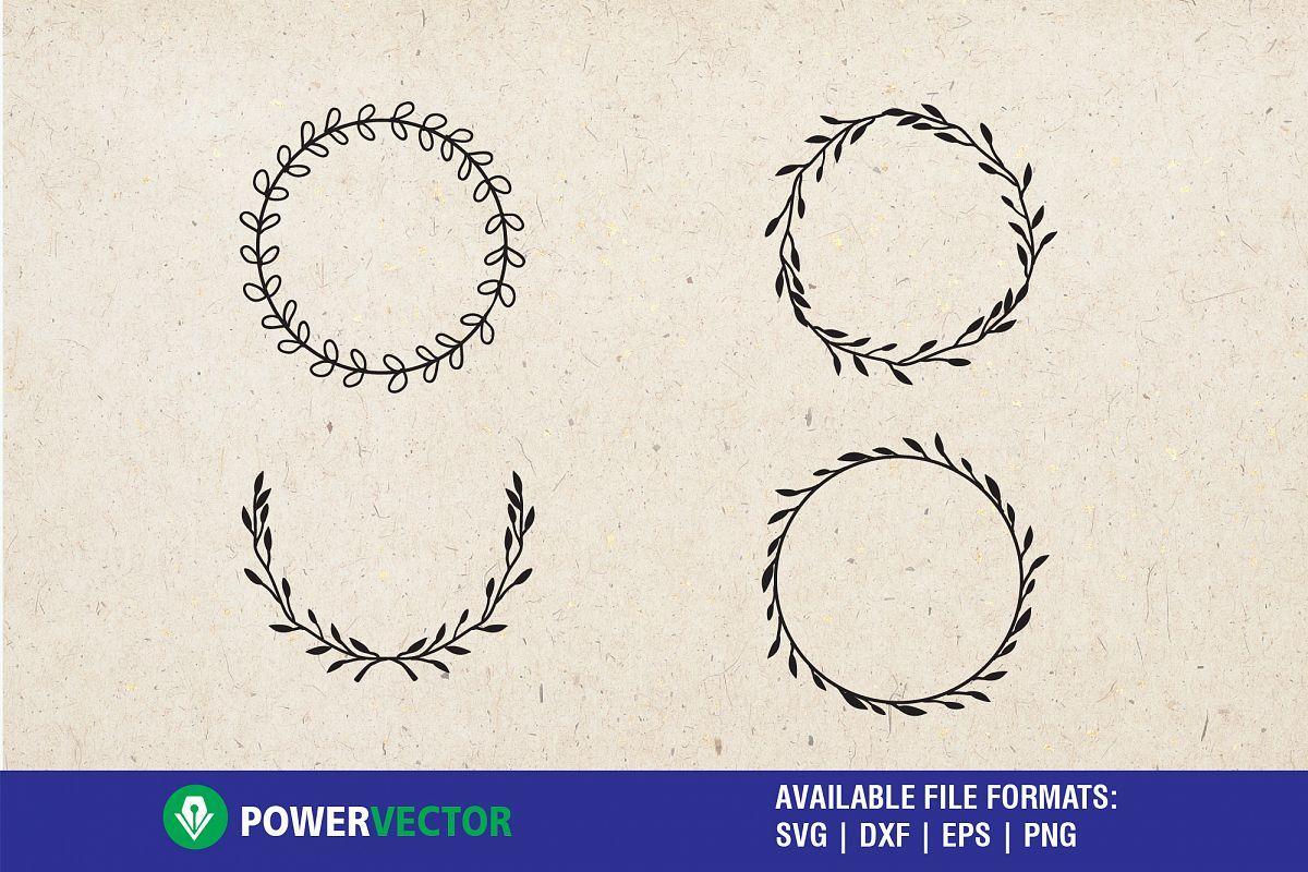 Laurel wreath svg - svg, dxf, eps wedding ornaments clipart example image 1