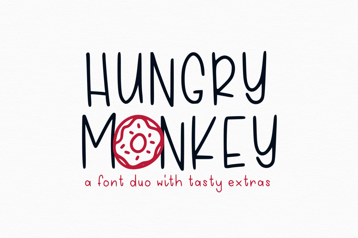 Hungry Monkey - Font Duo example image 1