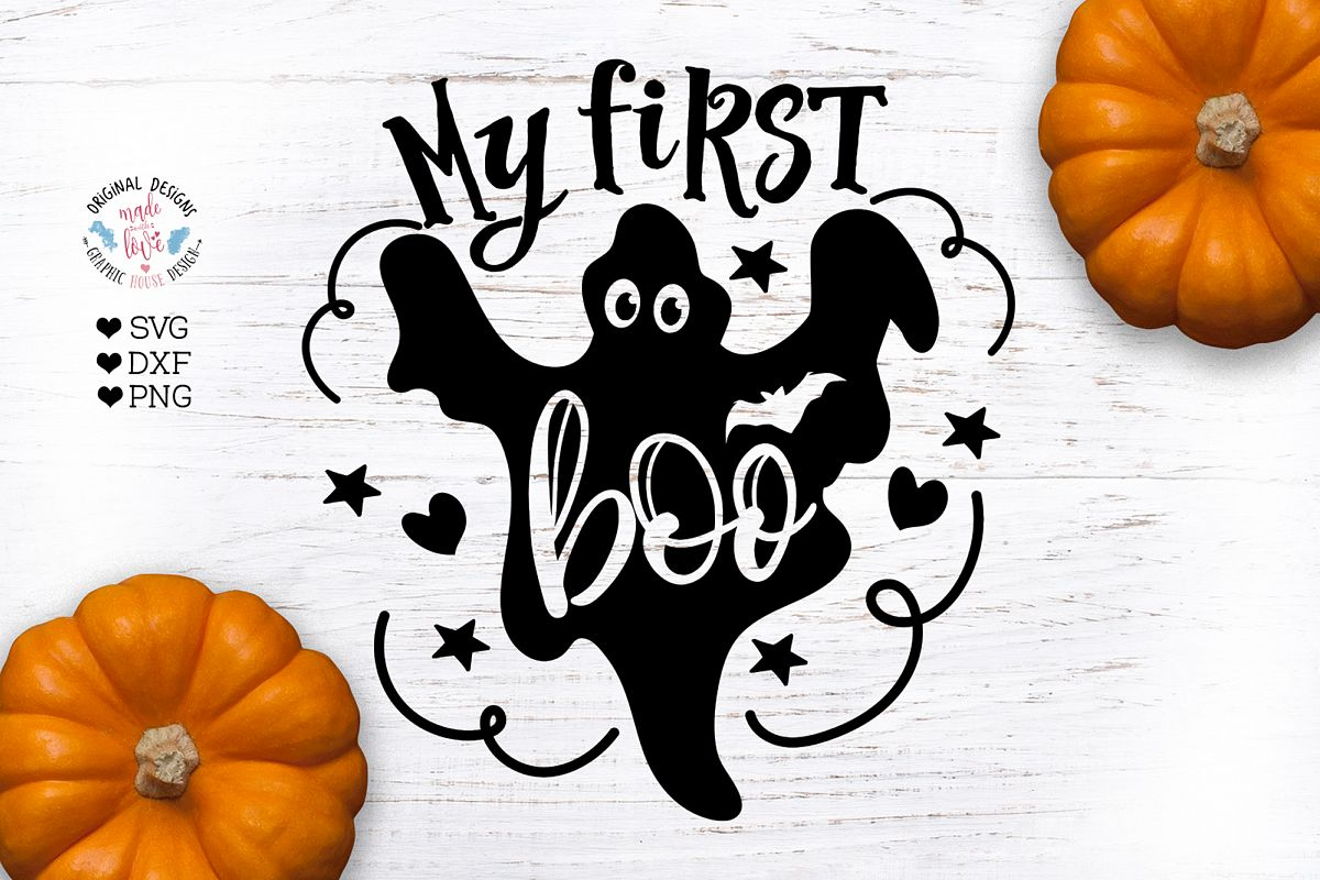 My First Boo - Halloween Baby Cut File example image 1