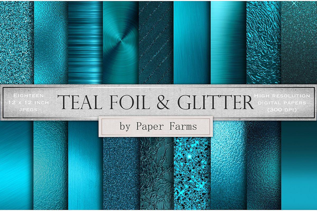 Teal metallic foil textures example image 1