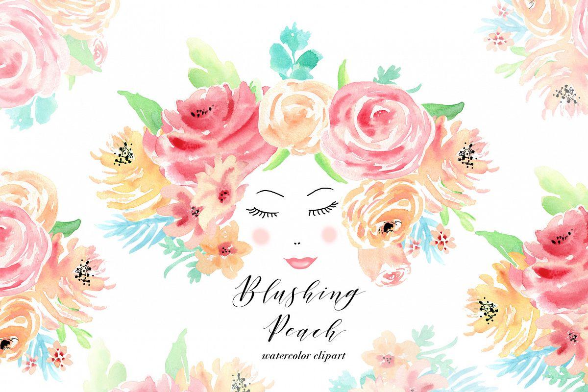 Watercolor Flowers Clip Art For Wedding Invitations Scrapbook
